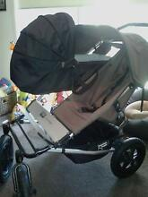 Mountain Buggy Urban double, bassinet, covers etc Echuca Campaspe Area Preview