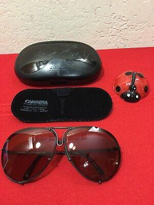 a9f2fbe5e254 Vtg CARRER PORSCHE DESIGN Sunglasses Aviator Mod.5623-90 Grey Frame w Case