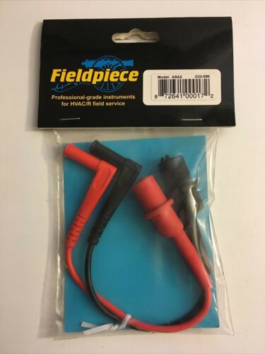 Fieldpiece ASA2 Small Alligator Clip Leads G32-090 Sealed New