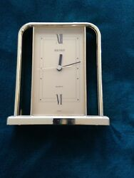 Elegant Decorative Bulova Quartz Table Top Clock (Working)