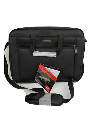 "Samsonite Computer Laptop Bag 15.6"" Case Men's Nylon city Black Style NEW$110"