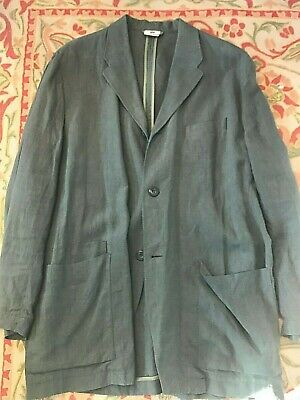 Vintage 90's Dries Van Noten (Louis,Boston) Linen Jacket Sz EU 54