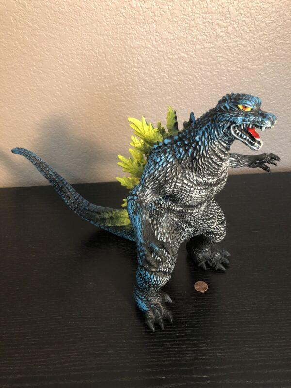 "RARE! 12"" Inch Soft Rubber Godzilla Figure Blue Yellow & White Unbranded NICE!"