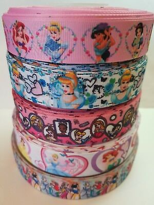 "5 Yards 7/8"" & 1"" princess Mix Lot Grosgrain Ribbon Hair Bow Supplies. for sale  Perris"