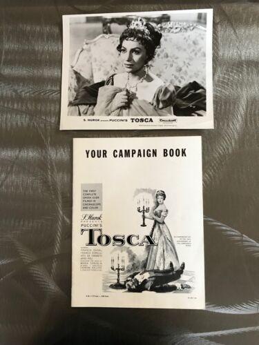 ORIGINAL1959 OPERA MOVIE TOSCA Campaign Book & Photo Soprano Franca Duval Photo