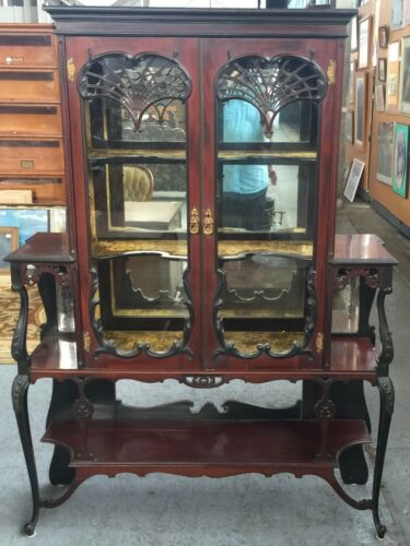 Antique Victorian Display China Cabinet
