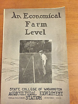 1923 Economical Farm Level Original Detailed Brochure Surveyor