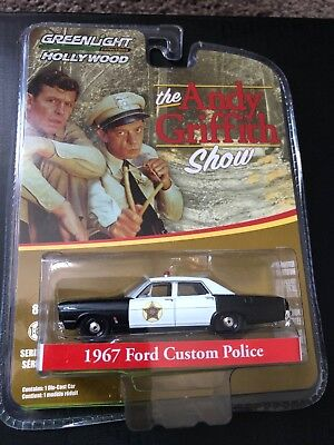 Police Custome (Greenlight Hollywood 1967 Ford Custom Police 1: 64Diecast The Andy Griffith)
