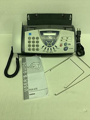 Brother Fax-575 Personal Plain Paper Fax Phone And Copier Machine Untested