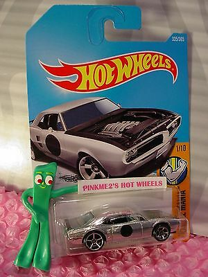 CUSTOM '67 PONTIAC FIREBIRD #335✰ZAMAC;✰Muscle Mania✰2017 i Hot Wheels WW case A