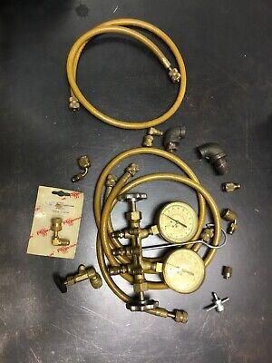 Hvac Freon Ac Manifold Gauge Set Gauges Unwield Untested W Accessories