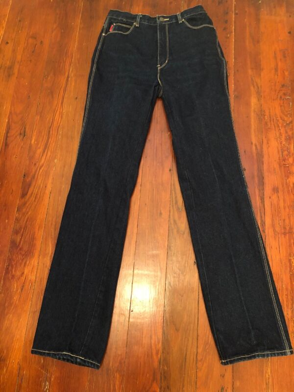 VTG 80s Gloria Vanderbilt Jeans Dark Wash High Waist 10 28x34 Hong Kong RARE