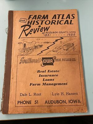 1955 Audubon COUNTY, IOWA FARM ATLAS HIsTorical Review