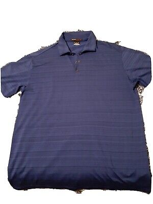 Nike Tiger Woods Collection Dri-Fit Golf Shirt Polo (M, Blue)(MM)
