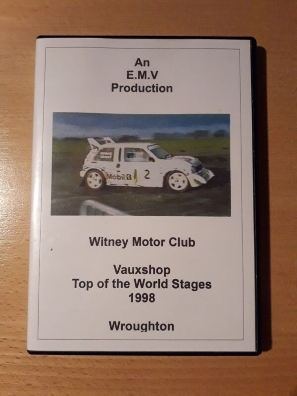 1998+Vauxshop+Top+Of+The+World+Stages+Rally+DVD+Witney+Motor+Club+Wroughton+