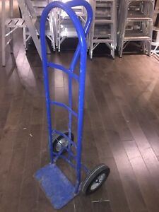 Blue warehouse dolly cart transport diable bleu de transport