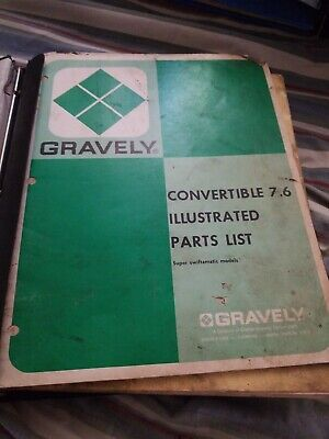Gravely  / Briggs & Stratton OPERATOR parts OWNERS MANUALS Lawn Mower Tractor Gravely Lawn Mower Parts
