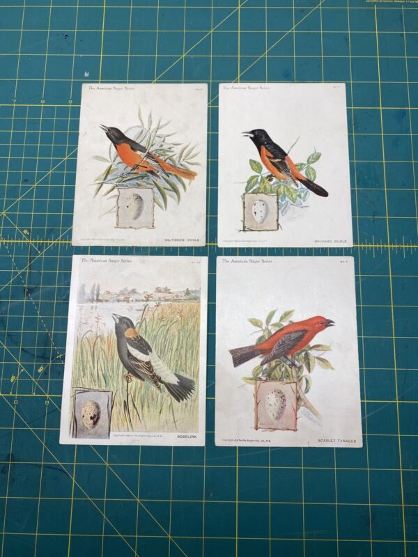 American Singer Series Bird Cards - Victorian Trade Cards