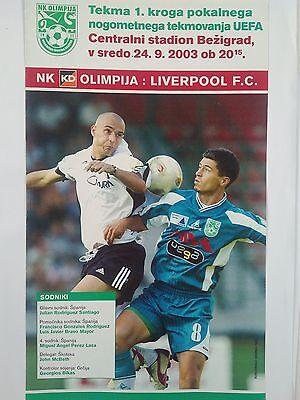 NK Olimpija v Liverpool 2003/04 Uefa Cup