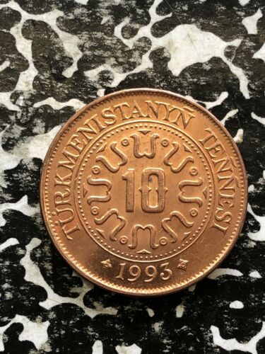 1993 Turkmenistan 10 Tenge (42 Available) High Grade! Beautiful!  (1 Coin Only)