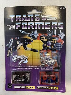 Transformers Vintage G1 Cassette 2 Pack Decepticons Ravage And Rumble