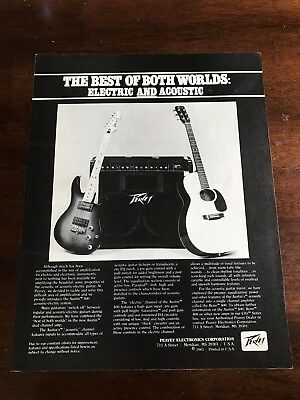 1983 VINTAGE 8.5X11 PRINT Ad PEAVEY GUITAR ELECTRIC&ACOUSTIC BEST OF BOTH WORLDS