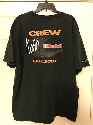 * * KORN Limp Bizkit 2003 Back 2 Basics Tour CREW Shirt RARE Size XXL * *