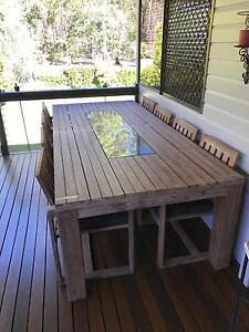 Shadow 11 piece outdoor dining setting Camp Hill Brisbane South East Preview