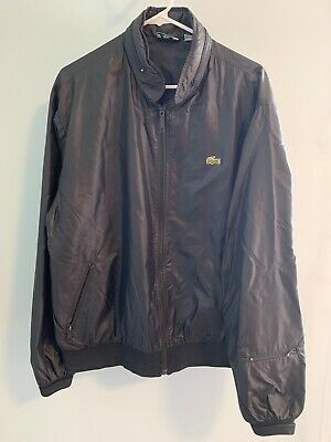Vintage Izod Lacoste Zip Up Jacket Sz XL 80s Packable Hood