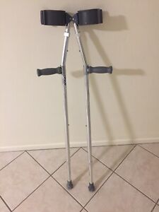 Fully adjustable Crutches $10