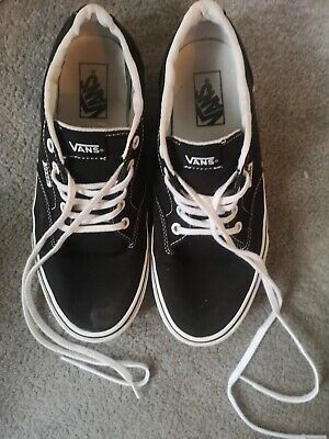 Black and White Vans - 7.5 UK, great condition, worn twice