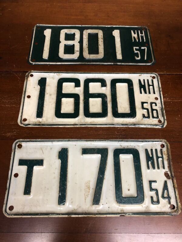 1950s Vintage NEW HAMPSHIRE BOAT LICENSE PLATE LOT