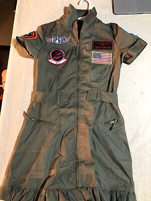 Top Gun Jacket (Top Gun Movie Women's Zip Up Dress Style Jacket Size Small/Medium Free)