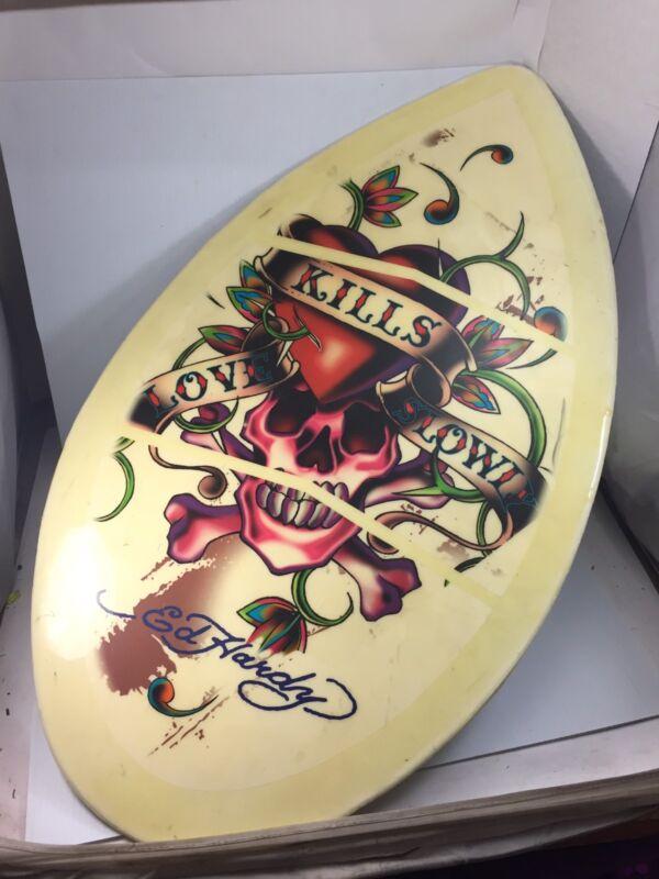 "Rare ED HARDY SKIM BOARD Skimboard CYA Made In USA Thumb Tail 30 - 130 36"" x 20"""