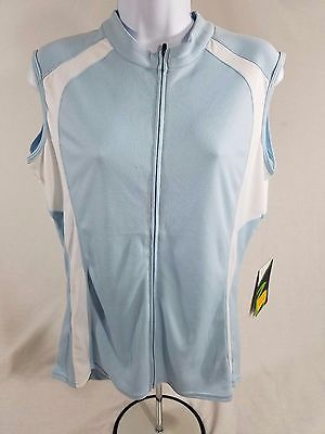 8a01513247e654 Cannondale Classic Sleeveless Women s Cycling Jersey SIZE Large Light Blue  9t