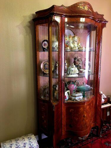 Antique GLASS VITRINE France