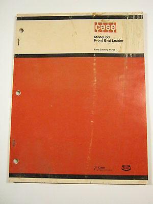 Case 60 Model Front End Loader Parts Catalog A1269 1977 Manual