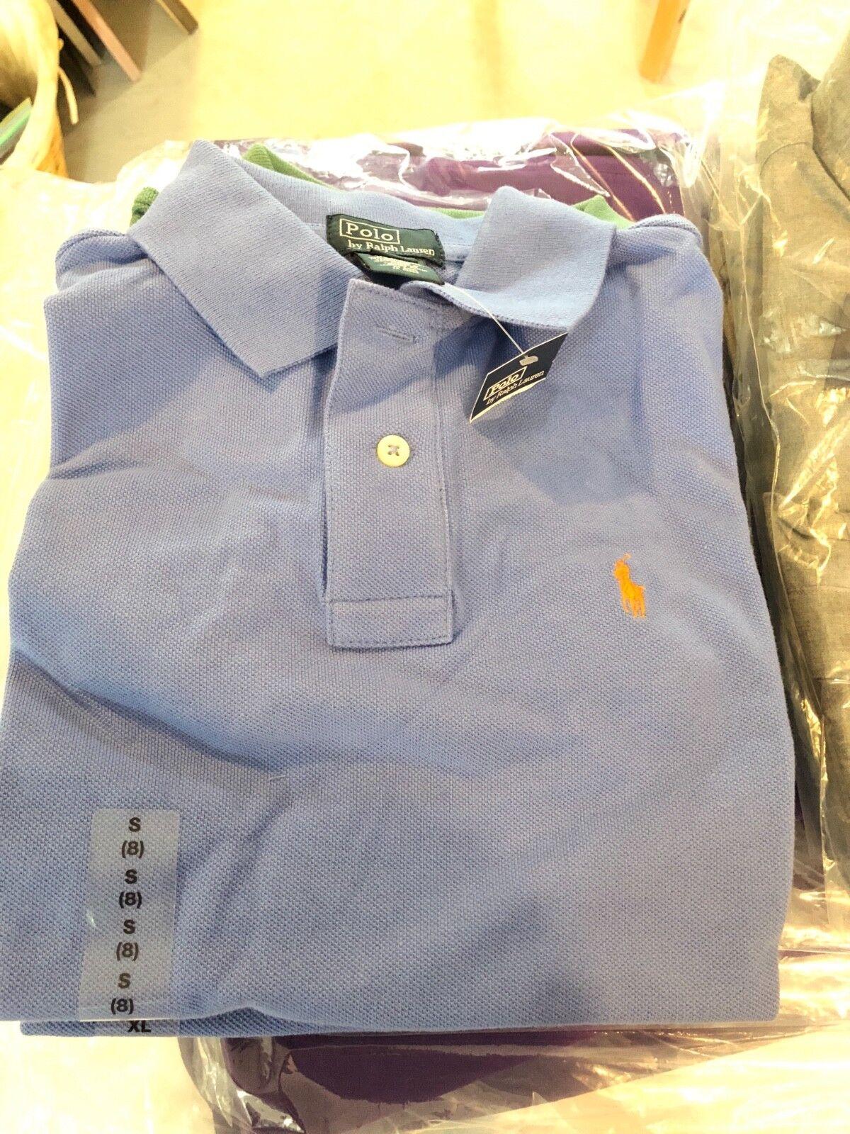 Ralph Lauren Polo Kids Boys Polo Shirts Size S color blue