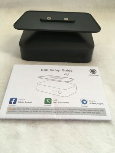ES5 Battery Base with stand for Echo Show 5 Black USB output New Open Box
