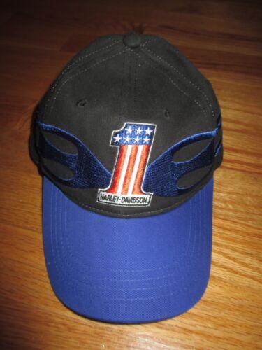 Harley Davidson No. 1 USA Flag (Adjustable) Cap