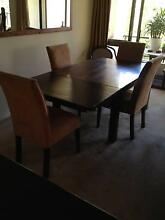 Solid Wood Dining table 8 seater with 4 chairs. Woolloomooloo Inner Sydney Preview