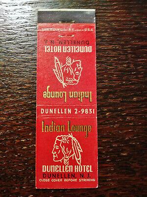 Vintage Matchcover: Indian Lounge, Dunellen Hotel, Dunellen, NJ E