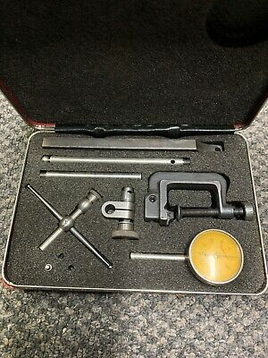 Starrett Machinist Universal Back Plunger Dial Indicator Set Used