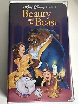 Beauty And The Beast VHS Black Diamond Classic Walt Disney 1992 RARE BVHV