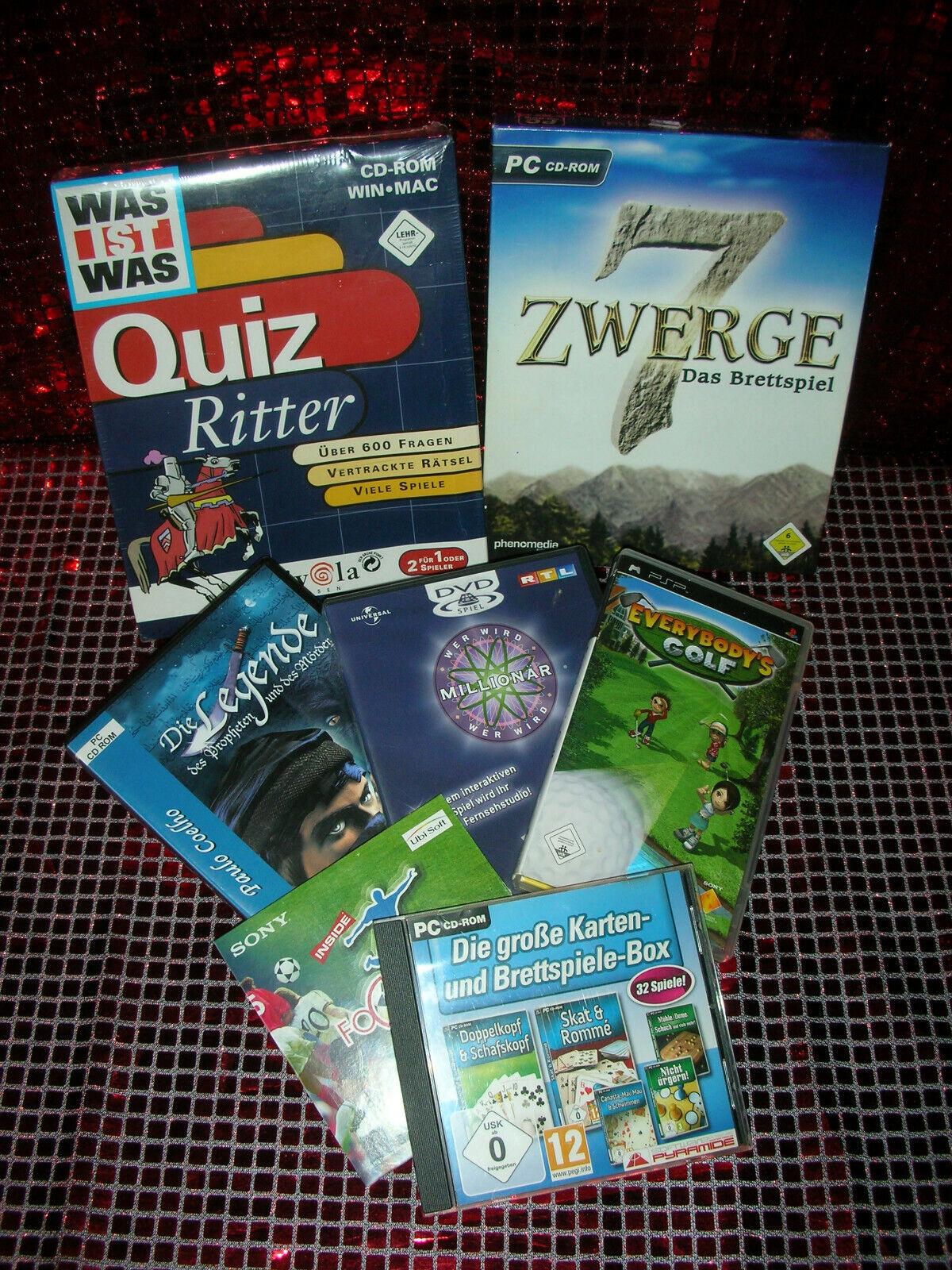PC CD Rom - DVD Spiele Quizspiele / sehr schöne saubere erhaltung