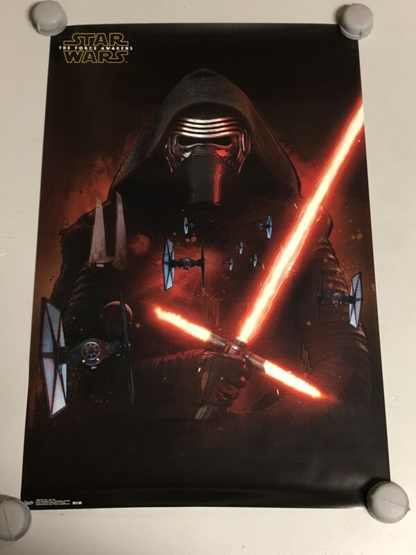 Star Wars The Force Awakens Kylo Ren Original Movie Poster Rare