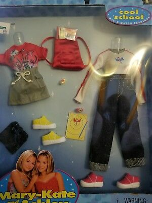 Mary Kate and Ashley Cool School Fun Mix n Match Fashions Doll Clothes NIP