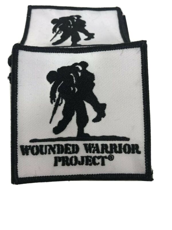 """Wounded Warrior Project Iron On Patches Lot Of 5 3""""x3"""""""