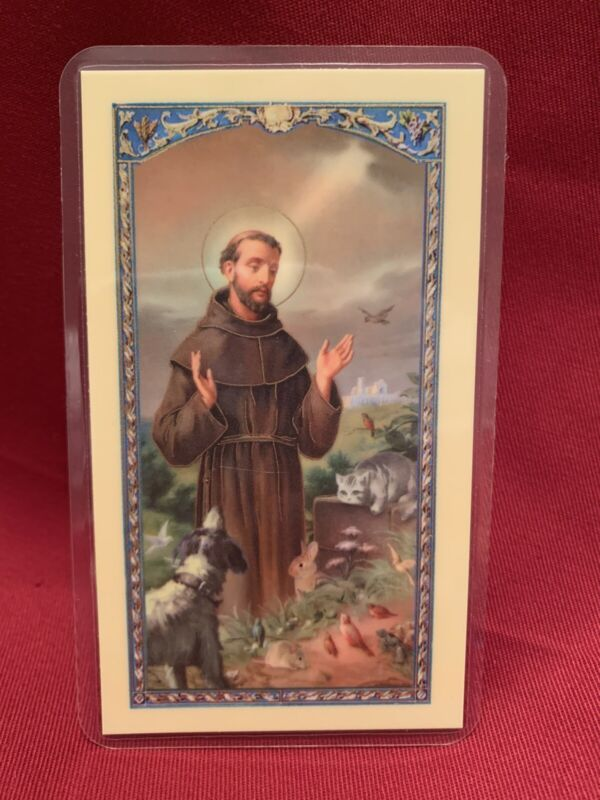 Bonella Holy Card by W. J. Hirten Co. Prayer For My Pet-St.Francis