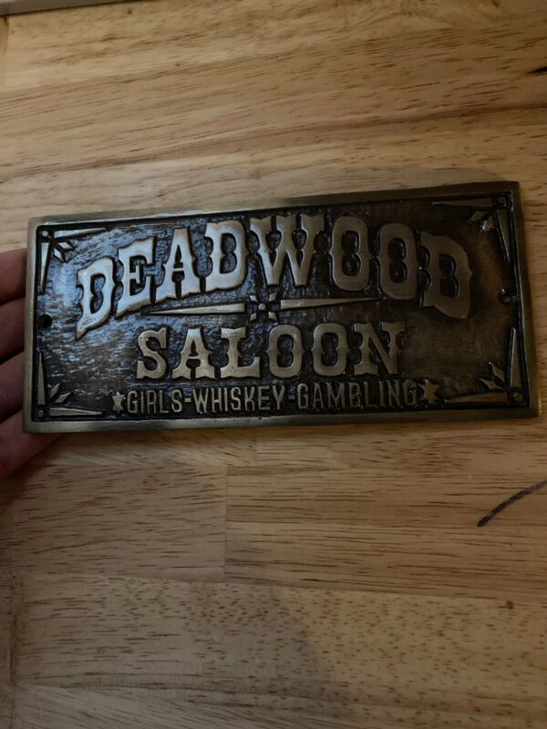 Deadwood Saloon Sign South Dakota VICE Metal Plaque GIRLS WHISKEY GAMBLE NR